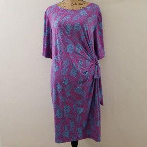 Dresses & Skirts - Fushia/Turquoise Dress